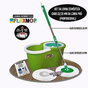 Mop Spin 360 Padrão USA Linha Hobby 2.0 Único com Cabo de 25mm, Marca Flexmop Nº1