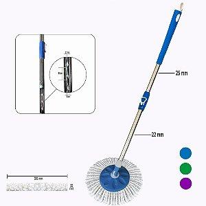 Kit Cabo Mop 35% +Robusto c/25mm +Base(Porta Esfregão) Linha Hobby 2.0 FlexMop®