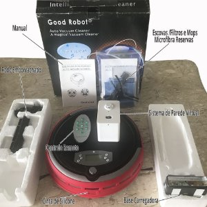 Robot Aspirador Vacuum Cleaner com UV Sterilization + Parede Virtual e Acessórios Marca: Good Robot®