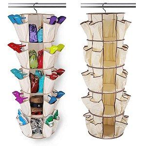 Organizador de Sapatos Rotating Shoe Rack Shoppstore 5 Prateleiras 40 Bolsos Marca: Smart Carousel®