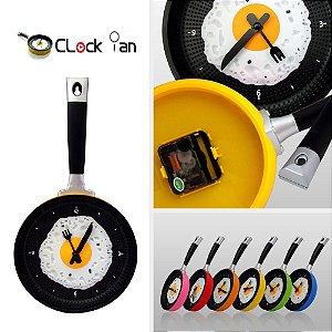 Relógio de Cozinha Omelette Pan Wall Clock®