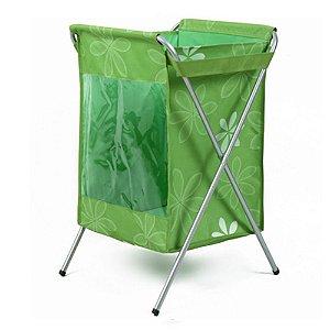 Cesto de Roupa Suja da Shoppstore C/Visor Lateral Pés de Alumínio Pano Oxford Cloth Laundry Basket®