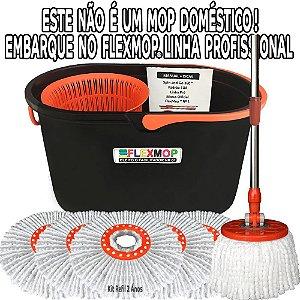 Spin and Go Mop Profissional (Linha Pró) Promo Refil p/02Anos(1+5=6un) Padrão USA Official FlexMop®