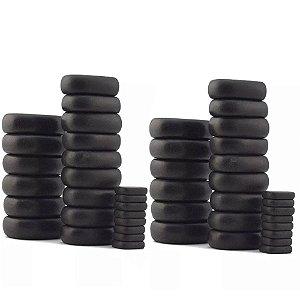 Kit 46 Pedras Basálticas Terapeuticas Vulcânicas p/Massagem e Relaxamento na Shoppstore®