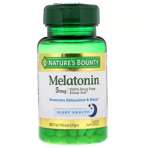 Mellatonina 5 mg 60 Softgels Nature's Bounty®