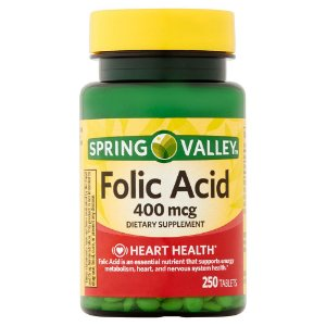Ácido Fólico 400mcg 250 tablets Spring Valley®