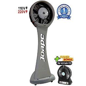 Climatizador Pedestal 100lt Guarujá Mod.2020 Econômico/Potente 230W Fluxo12.000m³/h Marca:Joape Cinza