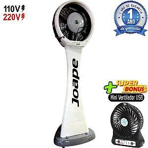Climatizador Pedestal 100lt Guarujá Mod.2020 Econômico/Potente 230W Fluxo12.000m³/h Marca:Joape Bco