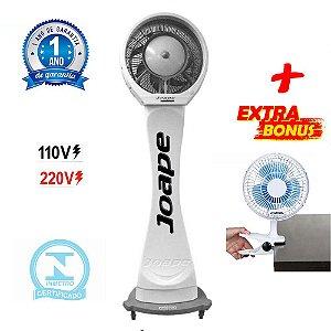 Climatizador Cassino Pedestal 2020 Marca Joape By Shoppstore + Brinde Mini Ventilador 20 cm Cor Bca