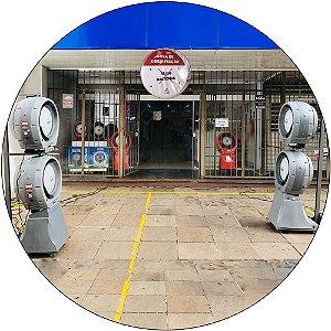 Estação Névoa Pulverizadora Descontaminante Dupla Turbina #Covid19 By Shoppstore Previne e Elimina, Bactérias, Vírus e Fungos Marca: Joape Cor Cinza