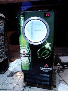 Mini Cervejeira Adesivo Heineken com Escotilha