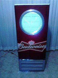 Mini Cervejeira Adesivo Budweiser com Escotilha