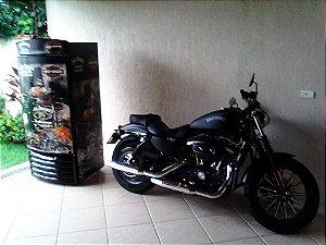 Mini Cervejeira Adesivo Harley Davidson Porta Cega