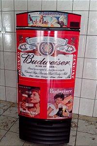 Mini Cervejeira Adesivo Budweiser Retrô Porta Cega