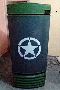 Mini Cervejeira Adesivo Verde Exército Porta Cega