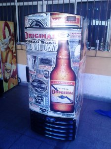 Mini Cervejeira Adesivo Original Porta Cega