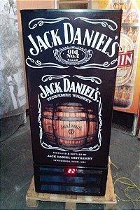 Mini Cervejeira Adesivo Jack Daniel´s Porta Cega