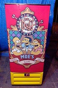 Mini Cervejeira Adesivo Bar Simpson´s Porta Cega