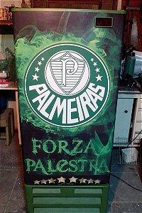Mini Cervejeira Adesivo Palmeiras Porta Cega