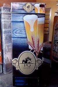 Cervejeira Adesivo Copo Cerveja Porta Cega 8 Caixas