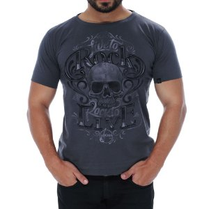 Camiseta Masculina Live To Rock