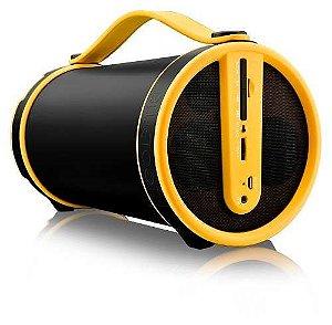 Caixa De Som Pulse Sp222 20w Rms C/ Bluetooth Preto Amarelo