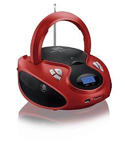 Boombox Micro system Portatil SP180 Multilaser 20W RMS com Usb Sd P2 Cd fm Vermelho