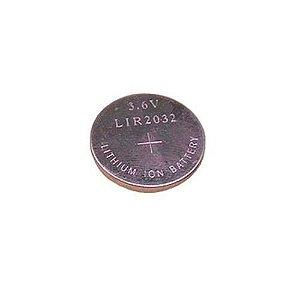 Pilha Botão Bateria Cr2032 3.6v Li-on Recarregável