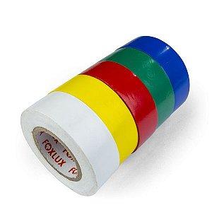 Kit 5 Fitas Isolantes Coloridas para Identificação de Cabos Eletricos Padrão NBR5410