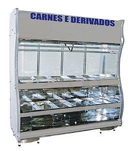 VITRINE EXPOSITORA DE CARNES 2,00 METROS