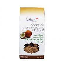 COOKIES DE COCO LEBEN 100g- Sem glúten, sem lactose, sem soja, sem proteína do leite.