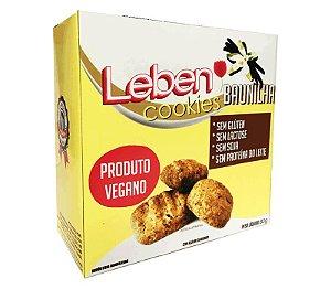 COOKIES BAUNILHA 80g- Sem glúten, sem lactose, sem soja, sem proteína do leite, vegano.