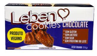 COOKIES CHOCOLATE 35g- Sem glúten, sem lactose, sem soja, sem proteína do leite, vegano.