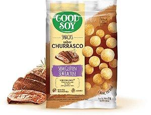 Snack de Soja Churrasco- Sem Gluten- Sem Lactose- 25g - Good Soy
