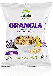 Granola Chia com Banana Integral Vitalin- 200g