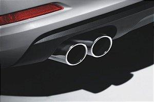 Ponteira Cromada para Audi A3 Novo