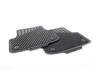 Tapetes Traseiros -  Borracha - Clipe para Fixação - A3 Sedan 2013 / 2020 - A3 Sportback 2013 / 2020