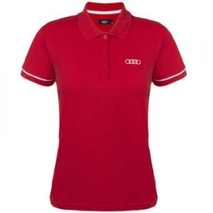 Camisa Polo Audi Collection Vermelha Feminina