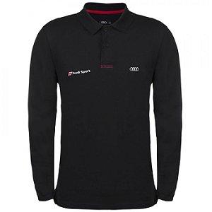 Camisa Polo -  Manga Longa - Audi Sport - Masculina