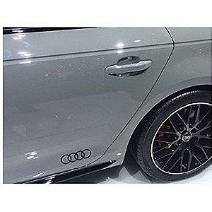 Adesivo Decorativo Audi Argolas - Preto