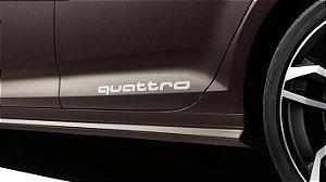 Adesivo Decorativo Audi quattro - Branco
