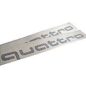 Adesivos Audi Quattro - Preto Brilhante