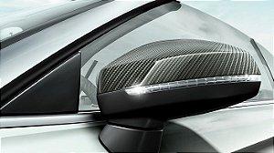 Capas de espelho retrovisor em Carbono A3 / S3 / RS3 - Original Audi (Par)
