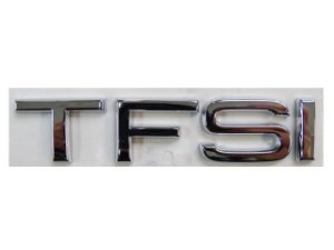 Emblema TFSI Tampa Traseira