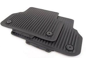 Tapetes Traseiros - Borracha - Clipe de Fixação - A4 Avant A4 Sedan 2017 / 2020 - A5 Coupe  A5 Sportback 2017 / 2020 - RS4 Avant Quattro - RS5 Coupe - RS5 Sportback 2019 / 2020