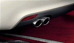 Ponteira de Escapamento - Black Chrome - A1 2011 2020- A3 Sportaback Quattro - A3 Sedan Quattro 2009 2020 - A3 Cabriolet 2008 2020