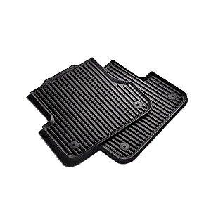 Tapetes Traseiros - Borracha - Clipe de Fixação - A6 Avant - A6 Avant Quattro 2011 / 2020 - A6 Allroad Quattro 2015 / 2020 - A7 Sportback 2012 / 2020