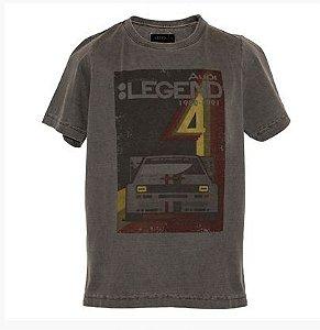 Camiseta Legend Audi Heritage - Preta - Infantil