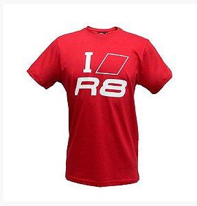 Camiseta I Love R8 Audi Sport - Vermelha - Masculina