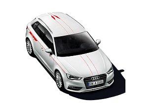 Kit Red - Películas Adesivas Externas - A3 Sportback Quattro - A3 Sedan Quattro 2013 2020 - RS3 Sportback - RS3 Sedan 2016 2020